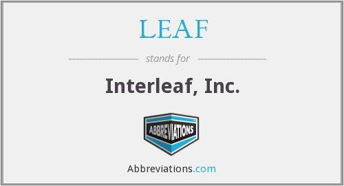 What does LEAF stand for?