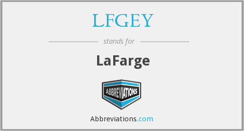 What does LFGEY stand for?