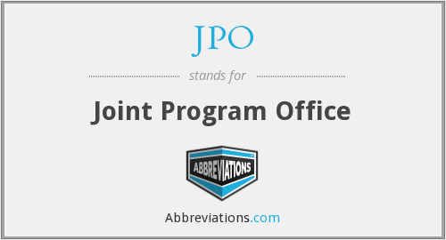 What does JPO stand for?
