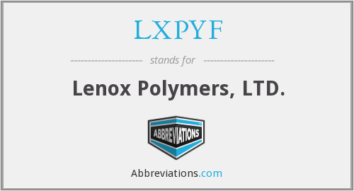 What does LXPYF stand for?
