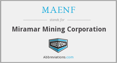 What does MAENF stand for?