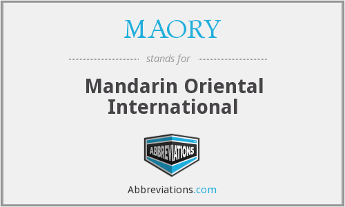 What does MAORY stand for?