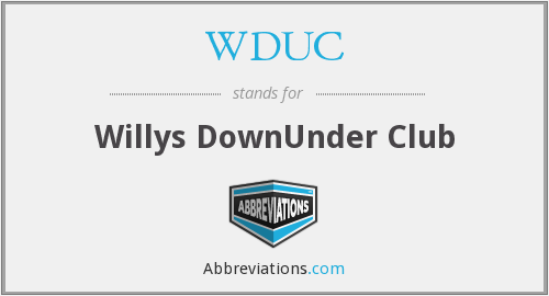 What does WDUC stand for?