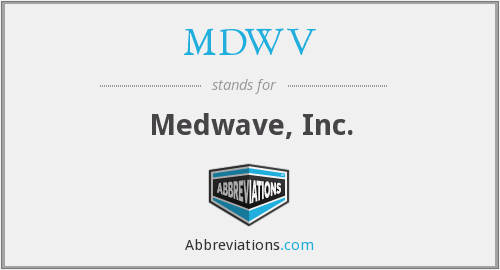 What does MDWV stand for?