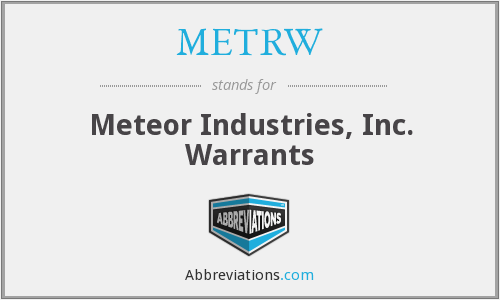 What does METRW stand for?