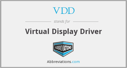 What does VDD stand for?