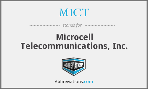 What does MICT stand for?