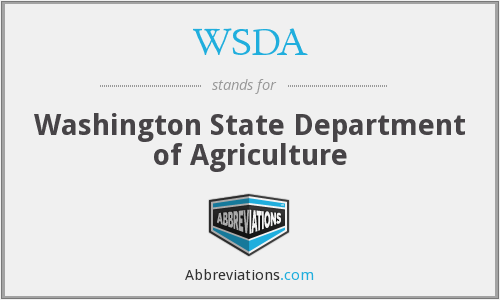 What does WSDA stand for?