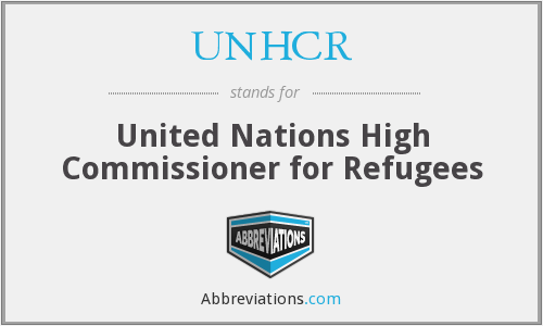 What does UNHCR stand for?