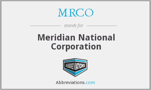 What does MRCO stand for?