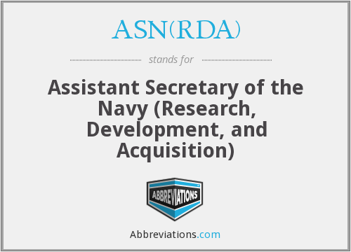 What does ASN(RDA) stand for?