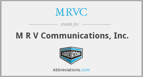 What does MRVC stand for?