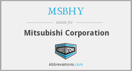What does MSBHY stand for?