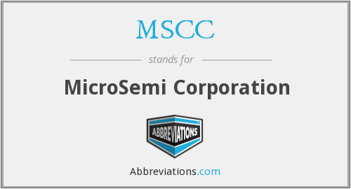 What does MSCC stand for?