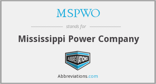 What does MSPWO stand for?