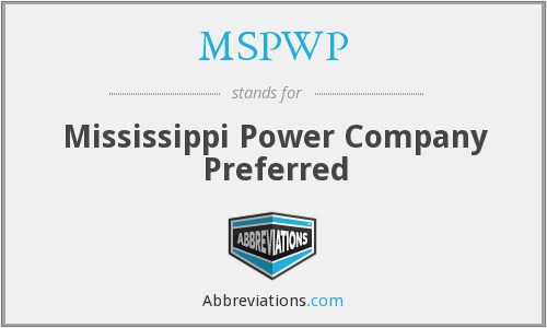 What does MSPWP stand for?