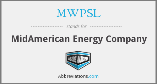 What does MWPSL stand for?