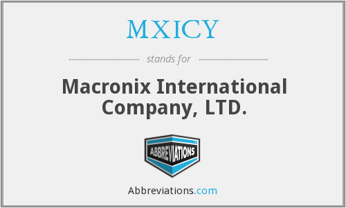 What does MXICY stand for?