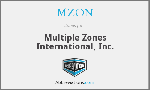What does MZON stand for?