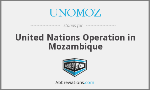 What does UNOMOZ stand for?