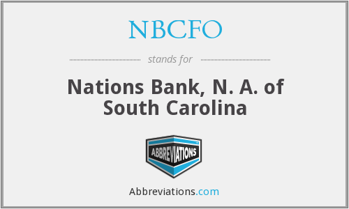 What does NBCFO stand for?