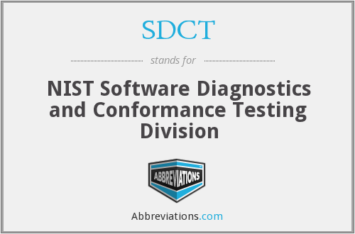 What does SDCT stand for?