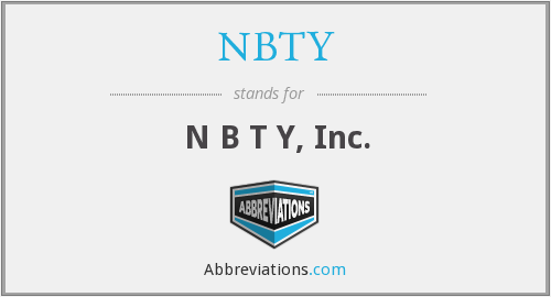 What does NBTY stand for?
