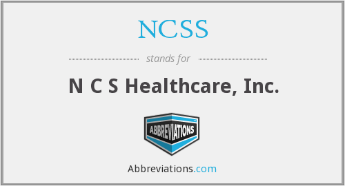 NCSS - N C S Healthcare, Inc.