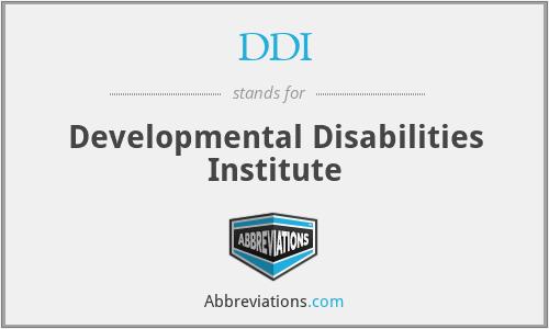 DDI - Developmental Disabilities Institute