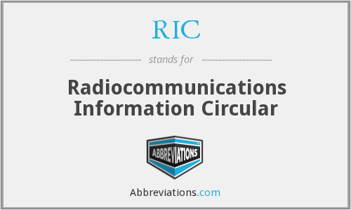 RIC - Radiocommunications Information Circular