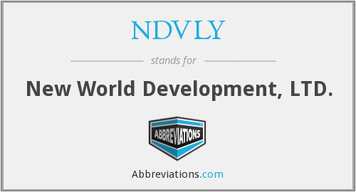 NDVLY - New World Development, LTD.