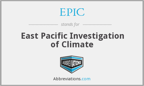 EPIC - East Pacific Investigation of Climate