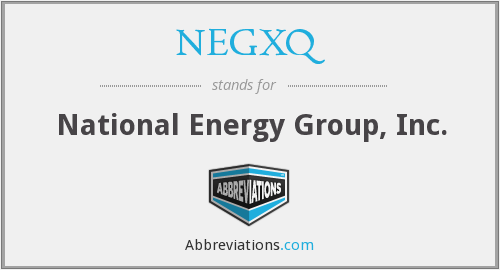What does NEGXQ stand for?