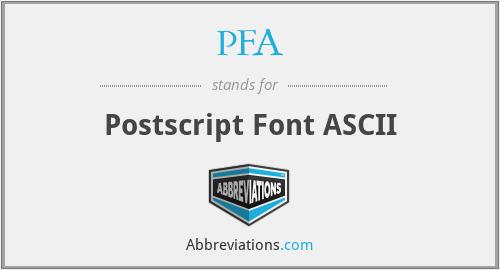 PFA - Postscript Font ASCII
