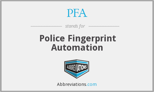 PFA - Police Fingerprint Automation