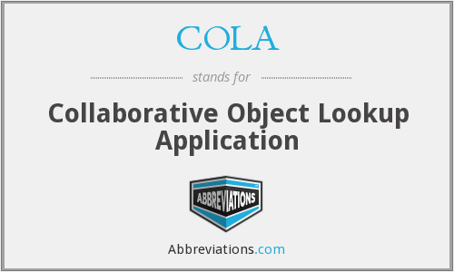 COLA - Collaborative Object Lookup Application