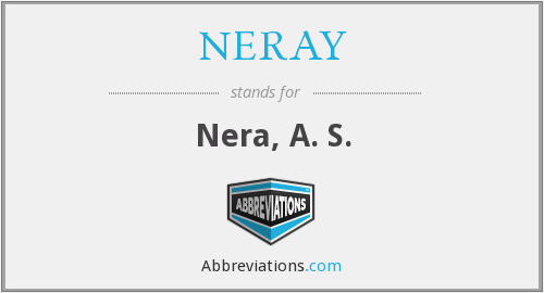 What does NERAY stand for?