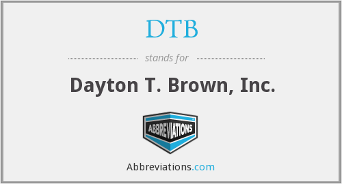 DTB - Dayton T. Brown, Inc.