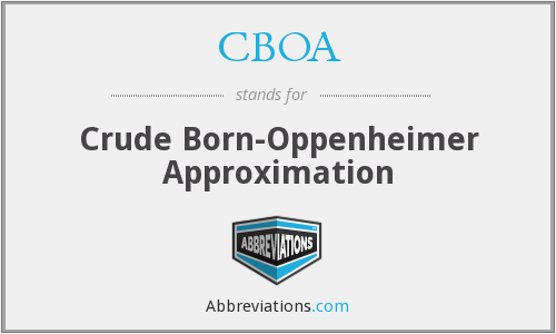 What does CBOA stand for?