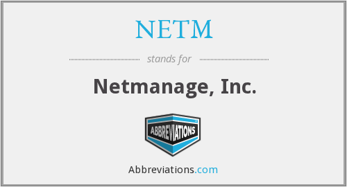 What does NETM stand for?