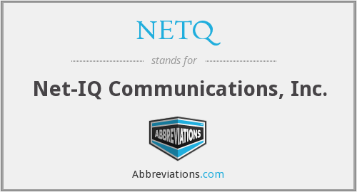 What does NETQ stand for?