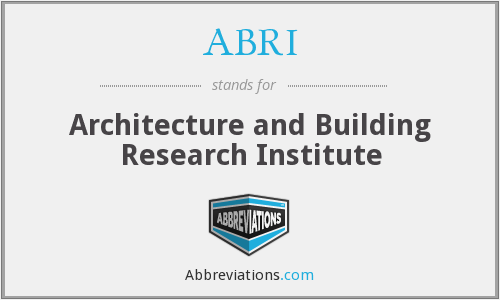 ABRI - Architecture and Building Research Institute