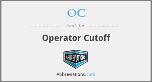 OC - Operator Cutoff