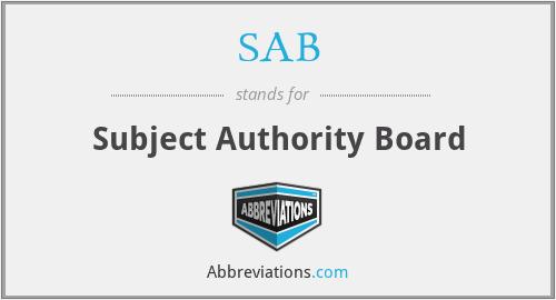 SAB - Subject Authority Board