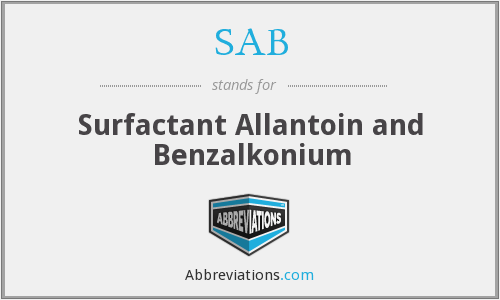 SAB - Surfactant Allantoin and Benzalkonium