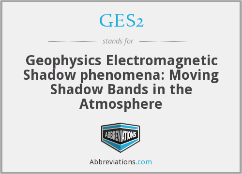GES2 - Geophysics Electromagnetic Shadow phenomena: Moving Shadow Bands in the Atmosphere