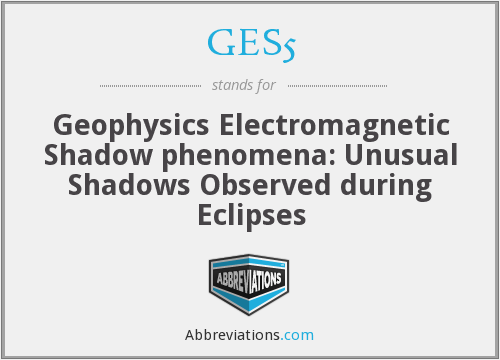 GES5 - Geophysics Electromagnetic Shadow phenomena: Unusual Shadows Observed during Eclipses