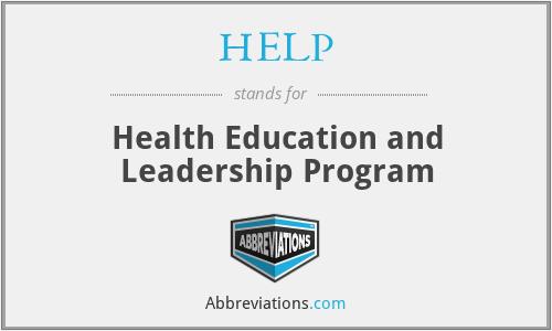 HELP - Health Education and Leadership Program