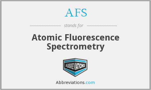 AFS - Atomic Fluorescence Spectrometry