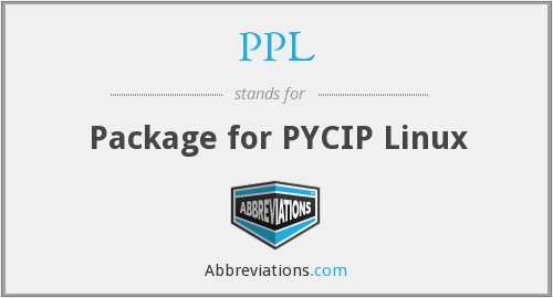 PPL - Package For Pcyip Linux